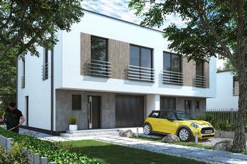 Projekt domu Ka154 (dwulokalowy / bliźniak)