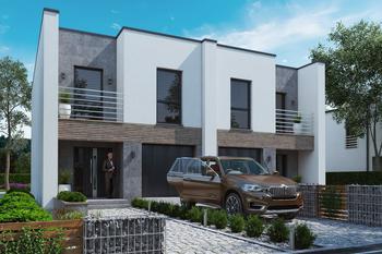 Projekt domu Ka205 (dwulokalowy / bliźniak)