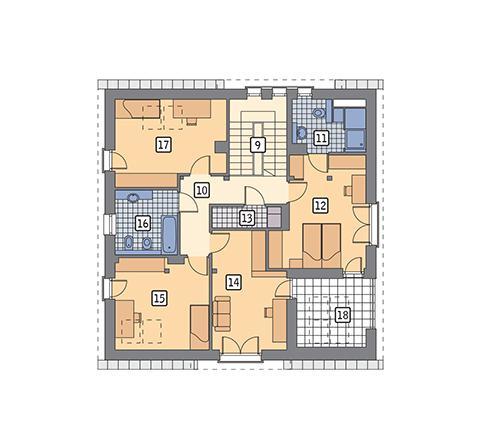 Rzut poddasza POW. 104,1 m²