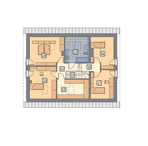 Rzut poddasza POW. 91,8 m²