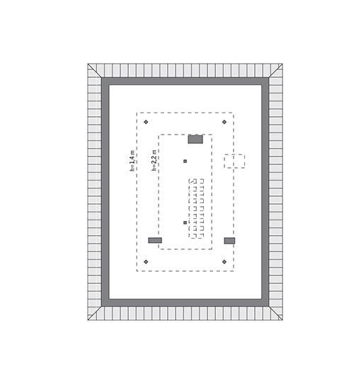 Rzut poddasza: do indywidualnej adaptacji (36,6 m2 powierzchni użytkowej)