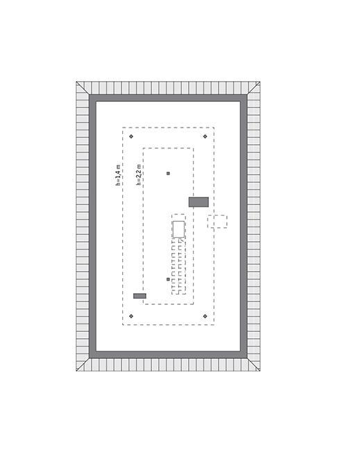 Rzut poddasza: do indywidualnej adaptacji (50,2 m2 powierzchni użytkowej)