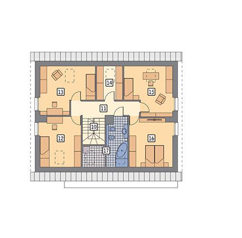 Rzut poddasza POW. 98,1 m²