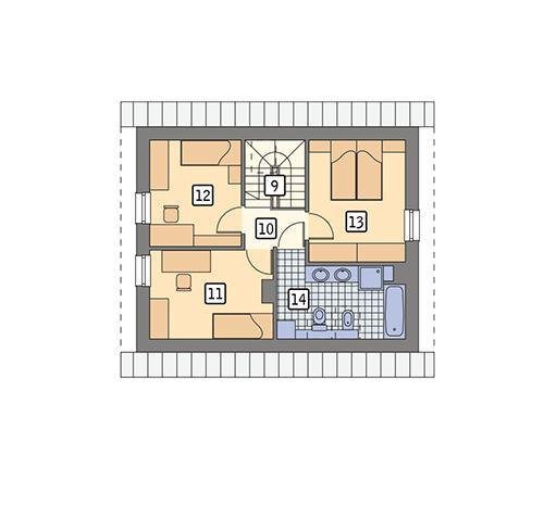 Rzut poddasza POW. 49,2 m²