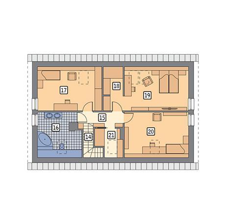 Rzut poddasza POW. 90,6 m²