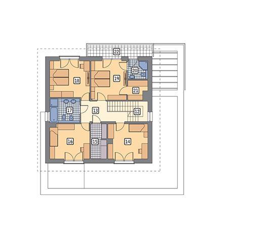 Rzut piętra POW. 98,8 m²
