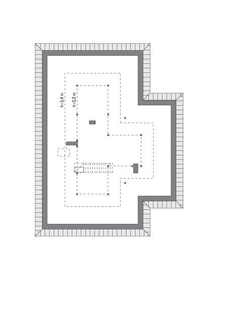 Rzut poddasza: do indywidualnej adaptacji (71,3 m2 powierzchni użytkowej)