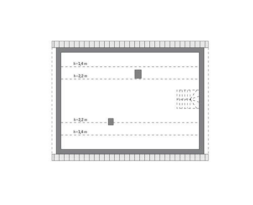 Rzut poddasza: do indywidualnej adaptacji (65,3 m2 powierzchni użytkowej)
