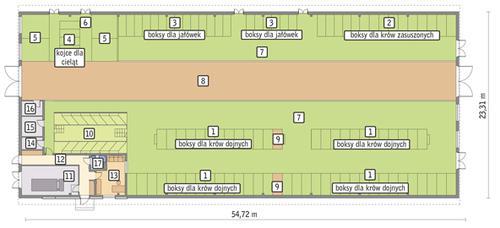 Rzut przyziemia POW. 1 189,9 m²