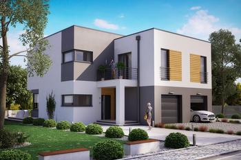 Projekt domu Ka28 (dwulokalowy / bliźniak)