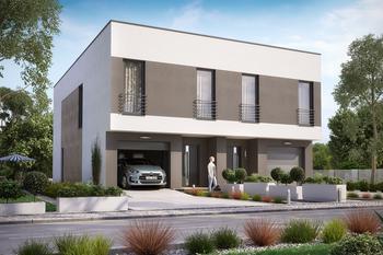 Projekt domu Ka13 (dwulokalowy / bliźniak)
