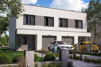 Projekt domu Ka120  (dwulokalowy/bliźniak)