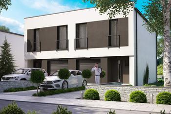 Projekt domu Ka119 (dwulokalowy / bliźniak)