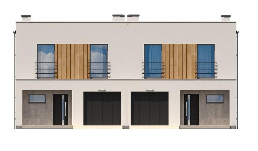 Ka106 Projekt domu Ka106 (dwulokalowy / bliźniak)