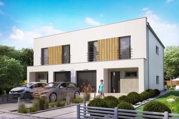 Projekt domu Ka106 (dwulokalowy/bliźniak)