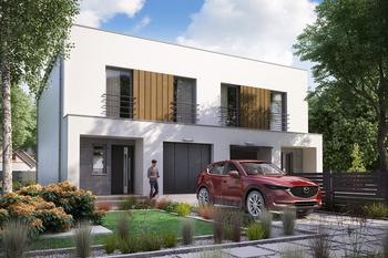 Projekt domu Ka104  (dwulokalowy/bliźniak)
