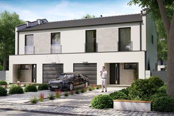 Projekt domu Ka92 (dwulokalowy/bliźniak)