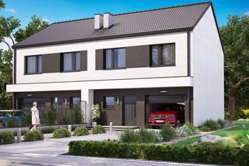 Projekt domu Ka67 (dwulokalowy / bliźniak)