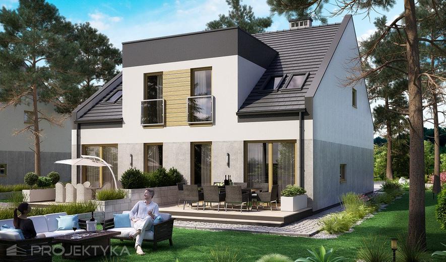 Ka62 Projekt domu Ka62 (dwulokalowy / bliźniak)