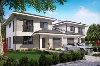 Projekt domu Ka60 (dwulokalowy / bliźniak)