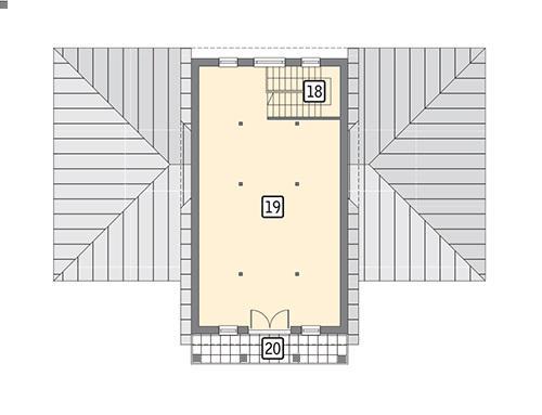 Rzut poddasza POW. 79,9 m²