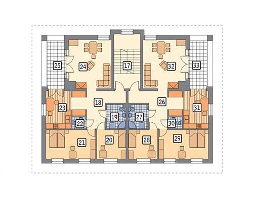 Rzut piętra POW. 183,1 m²