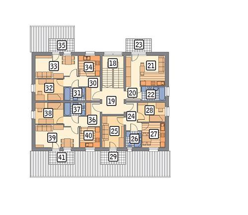 Rzut poddasza POW. 178,8 m²