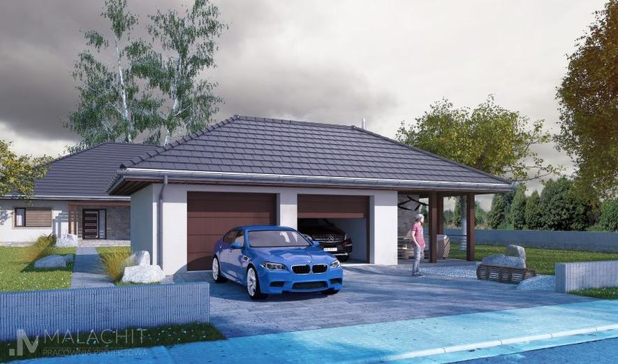 MTG03 Garaż z częścią gospodarczą (Vehiculum III G2)