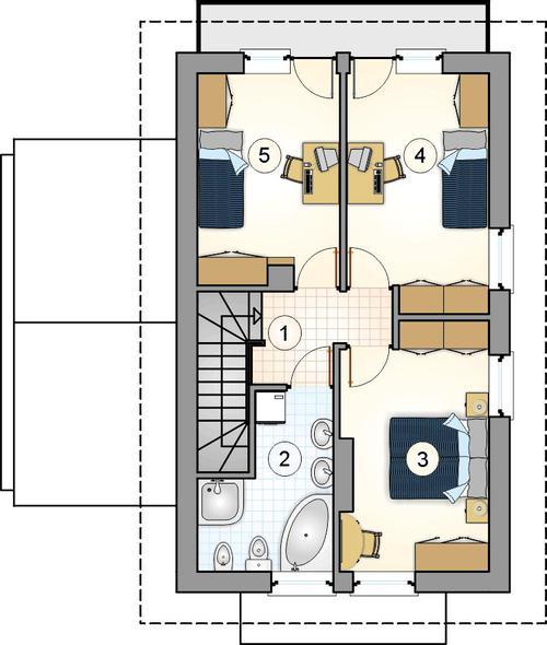 Rzut piętra lustro POW. 0,0 m²