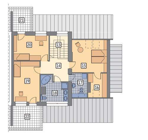 Rzut poddasza POW. 99,0 m²