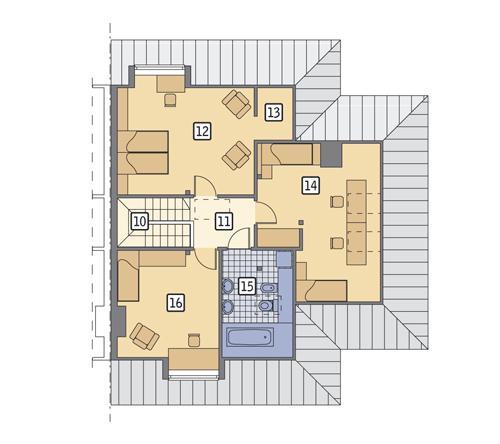Rzut poddasza POW. 83,6 m²