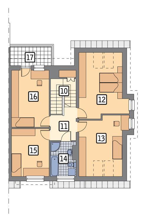 Rzut poddasza POW. 89,5 m²