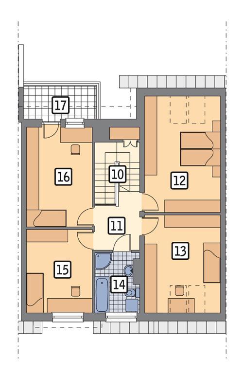 Rzut poddasza POW. 88,2 m²