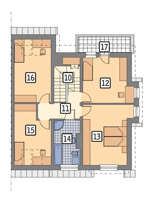 Rzut poddasza POW. 87,7 m²