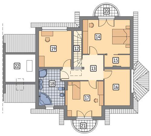 Rzut poddasza POW. 107,2 m²