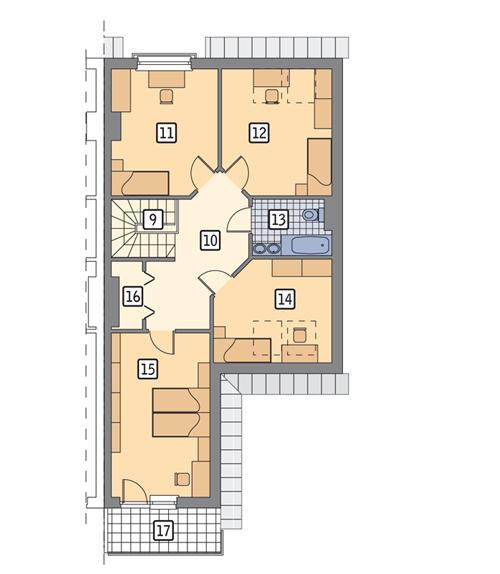 Rzut poddasza POW. 86,6 m²