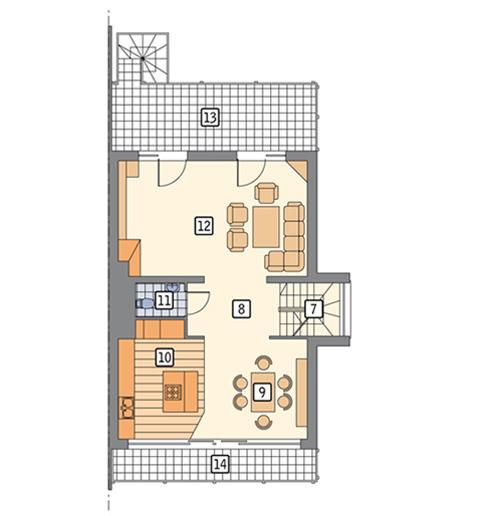 Rzut piętra POW. 95,2 m²