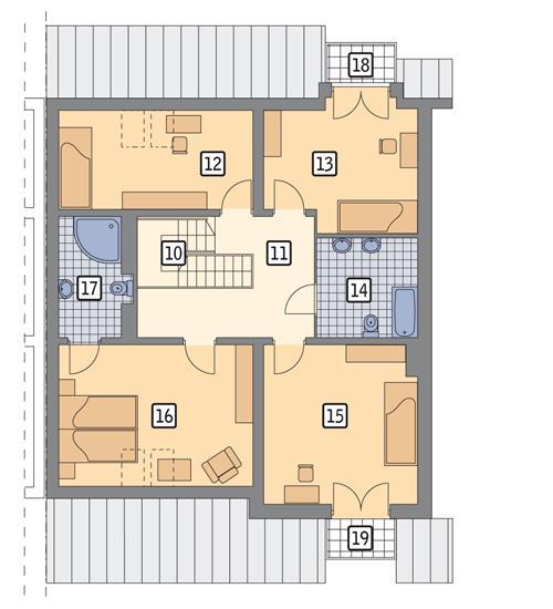 Rzut poddasza POW. 114,8 m²