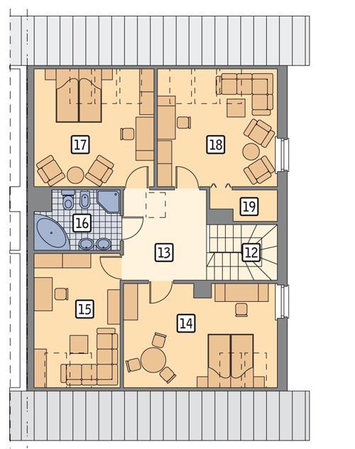 Rzut poddasza POW. 95,2 m²
