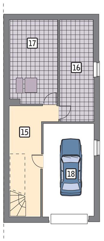 Rzut piwnicy POW. 63,3 m²