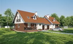Dom na rozstaju - wariant III (bliźniak)