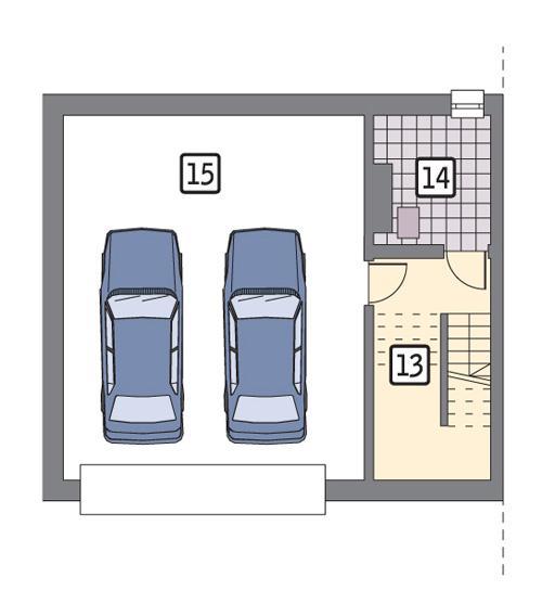 Rzut piwnicy POW. 61,2 m²