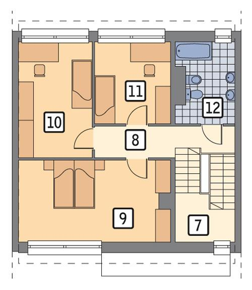 RZUT PIĘTRA POW. 64,9 m²