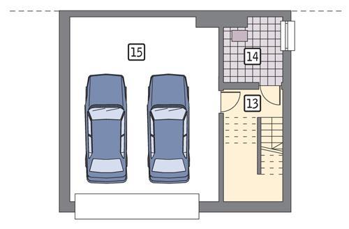 Rzut piwnicy POW. 61,1 m²