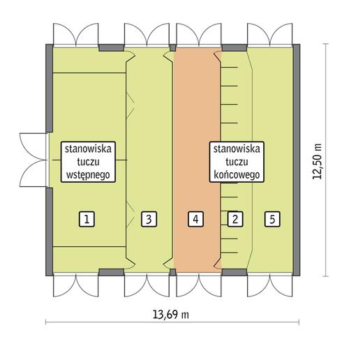 Rzut przyziemia POW. 152,3 m²