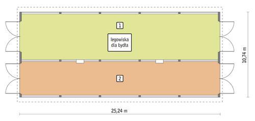 Rzut przyziemia POW. 246,3 m²