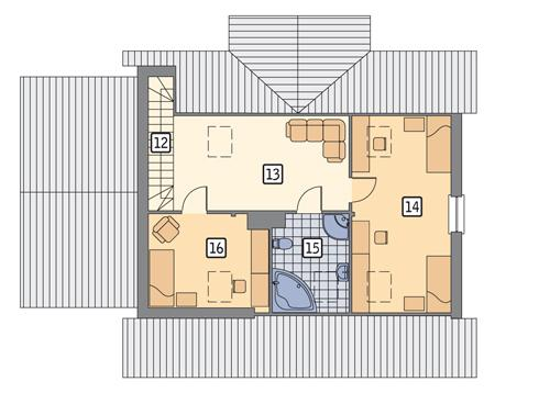 Rzut poddasza POW. 66,7 m²