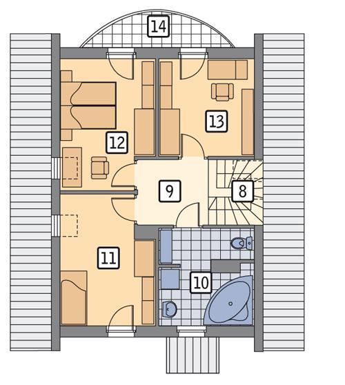Rzut poddasza POW. 57,6 m²
