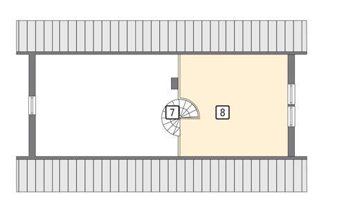 Rzut poddasza POW. 37,8 m²