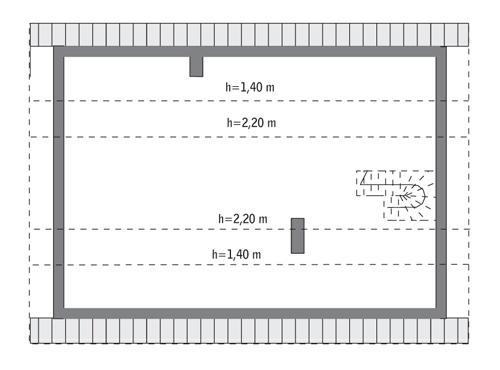 Rzut poddasza: do indywidualnej adaptacji (37,8 m2 powierzchni użytkowej)